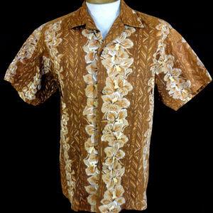 *Sold*  Vintage 50's Hibiscus Hawaiian Shirt